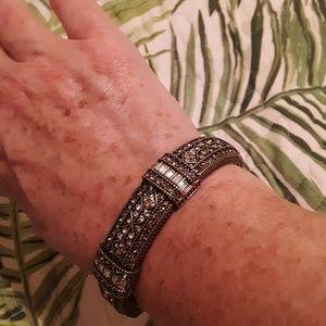 Crystal Bangle Bracelet (12mm) - Hinged